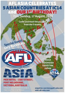 Sunday, 17 August to support the IC14 teams from Asia.