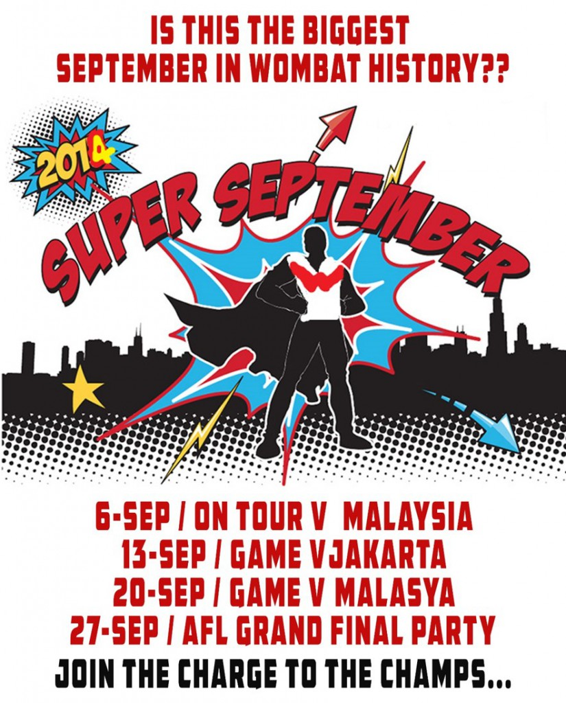 """Is this the BIGGEST September in Wombat history?"", ask the Singapore Wombats."