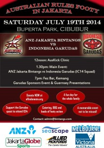 The Indonesian Garudas have their last hit out before IC14 tomorrow – followed by their jumper presentation.