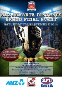 The Jakarta Bintangs' 2014 AFL Grand Final Event.