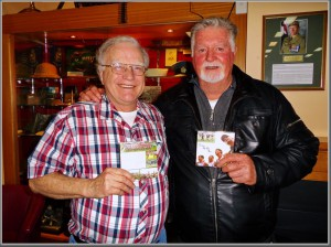 "Stan Middleton, last week with John Heaney, the man who started footy in Vietnam back in 1966 - with the single, ""Forever We Will Run""."