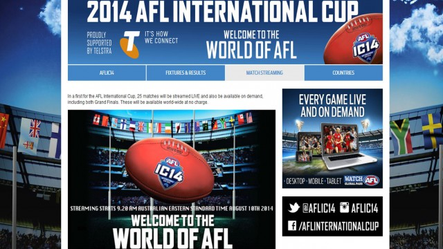 Live streaming of the 2014 International Cup!