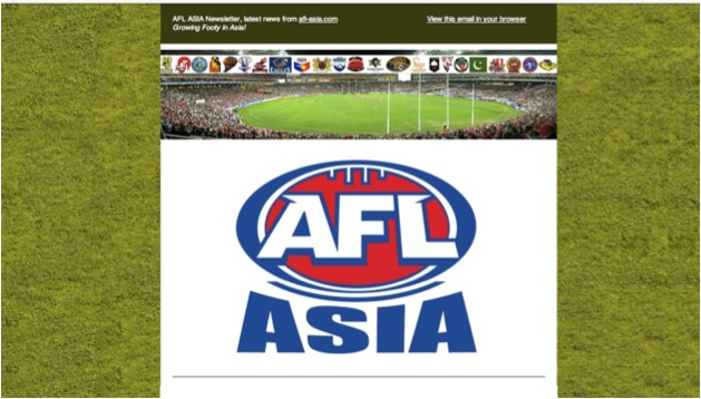 AFL Asia's first newsletter.
