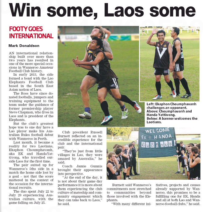 2015 Laos tour article