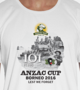 2016 Anzac Adults t-shirts