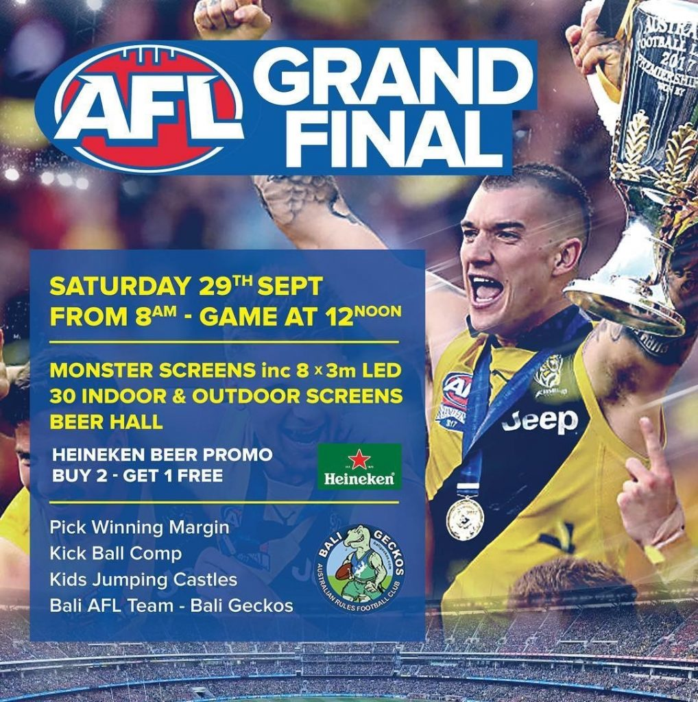 Bali Geckos 2018 AFL Asia Grand Final Party