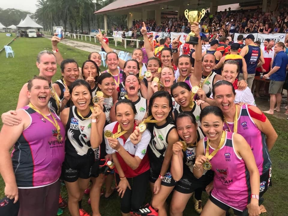 The Vietnam Swans Women's team took out the first ever AFLW Asian Championships in a nailbiting final against the Hong Kong Dragons. Women's AFL in Asia is primed to go from strength to strength in the coming years!
