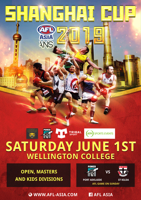 The 2019 AFL Asia Shanghai Cup Poster