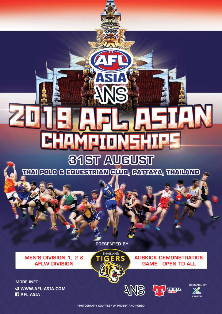 2019 AFL Asia Asian Championships Promotional Poster by X Digital