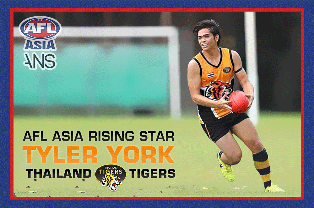 Tyler York Thailand Tigers AFL Asia Rising Star 2019