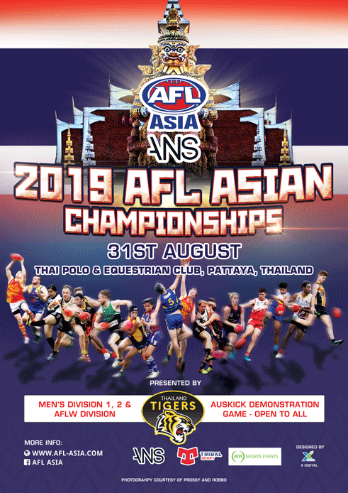 2019 AFL Asian Championships Promotional Poster