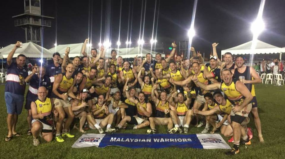 2017 AFL Asian Championships Manila Malaysian Warriors winners