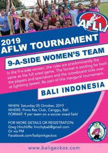 2019 AFLW BALI 9-A-SIDE TOURNAMENT @ Finns Rec. Club