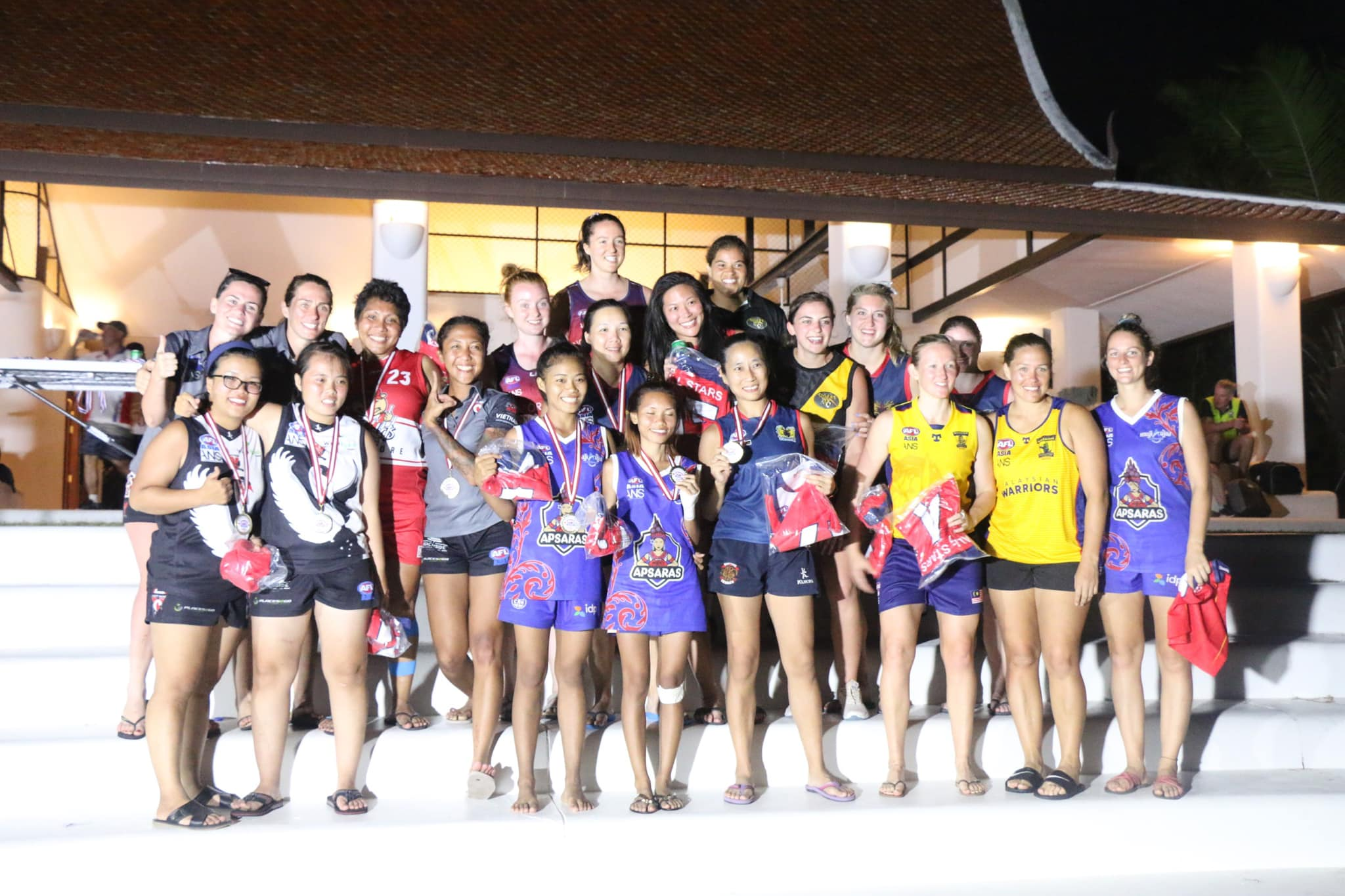 The All Asian AFLW Squad at the 2019 Asian Championships in Pattaya.