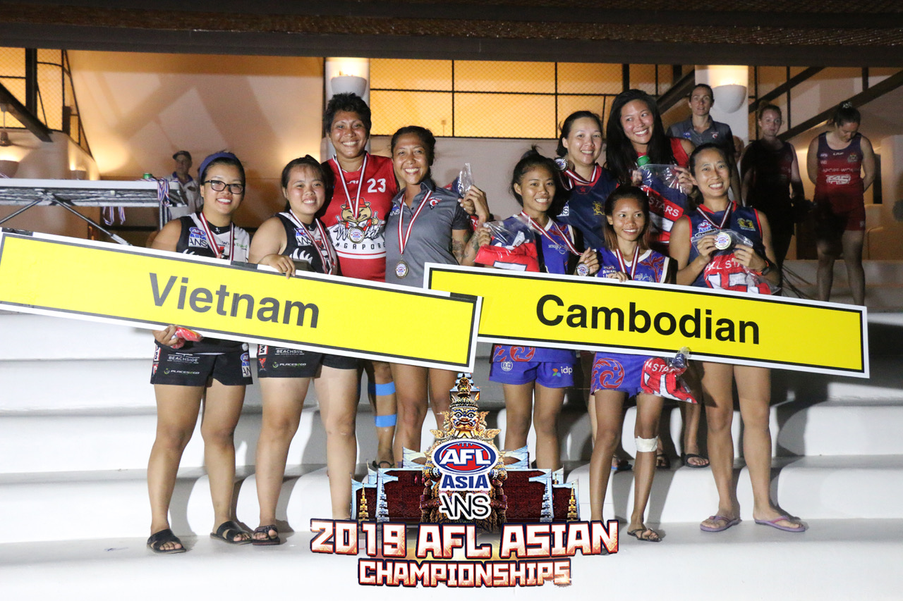 The AFL Asia All Asian Born Women's 2019 Squad