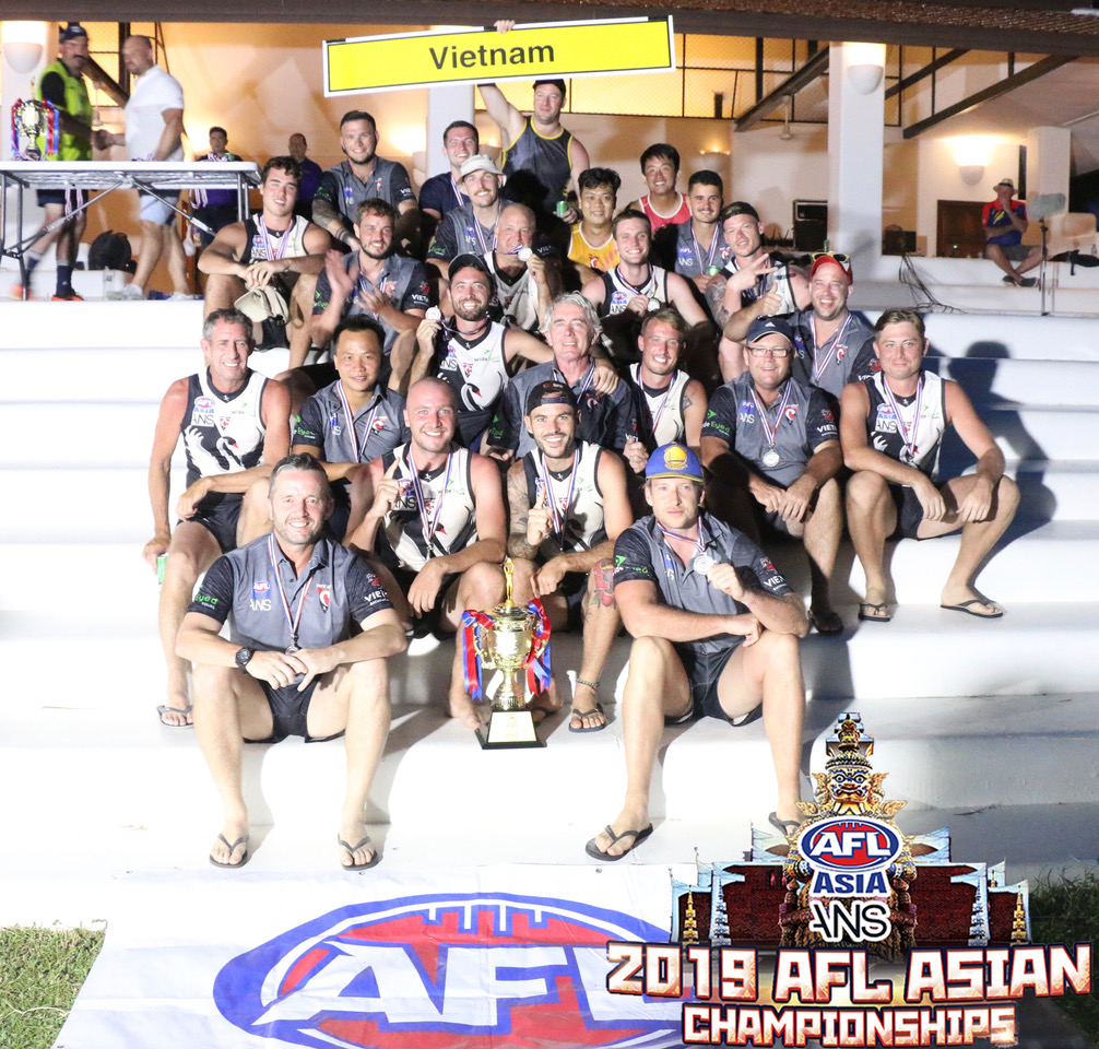 The Vietnam Swans won the 2019 Division 2 Mens Asian Champs - the clubs first ever mens success at an Asian Champs!