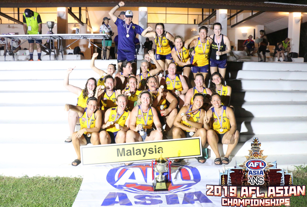 The Malaysian Warrior Women have taken the 2nd ever AFLW Asian Champs at Pattaya.